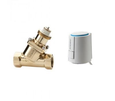 Регулирующий клапан с приводом для калориферов горячей воды